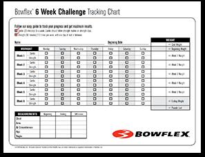 Zes weken Bowflex-uitdaging PDF