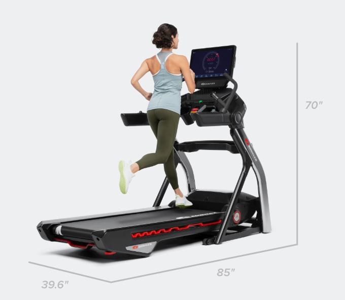 Treadmill  56 dimensions - 85 x 39.6 x 70 inches