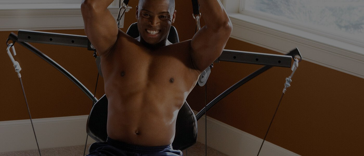 John gained muscle definition with Bowflex
