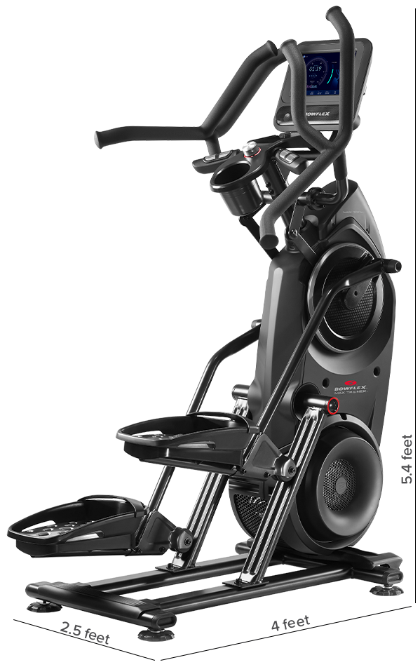 Max Total - machine dimensions: 124.5 L x 77.5 W x 166.4 H cm