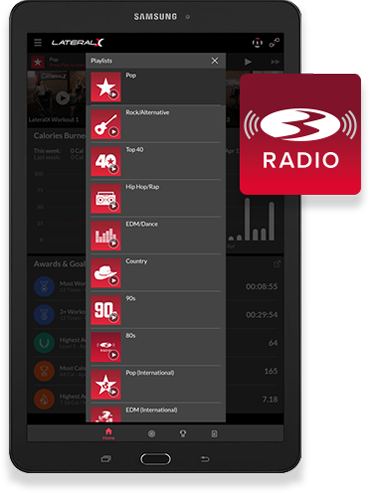 Bowflex Radio op the LatX-app