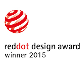 Vencedor do Prémio Red Dot Design 2015