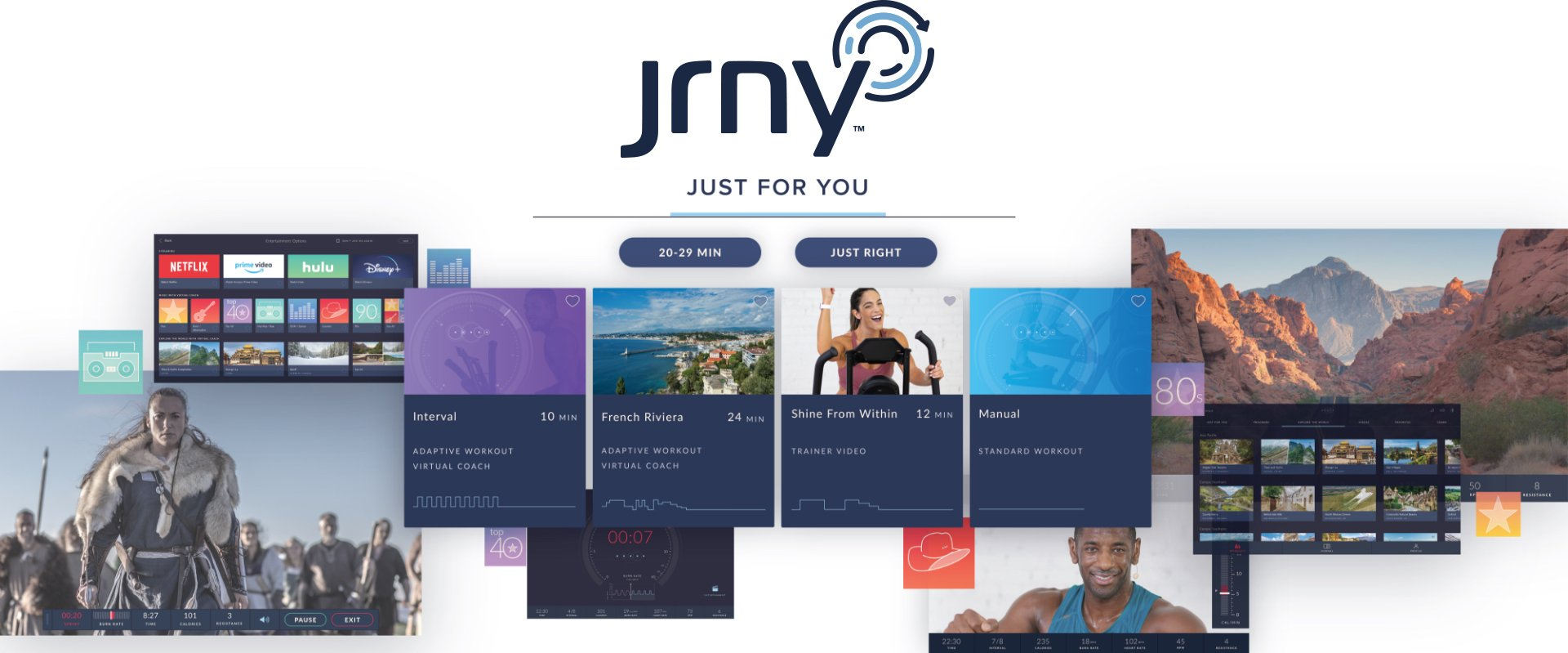 JRNY App - digital assets and screenshots of the JRNY experience