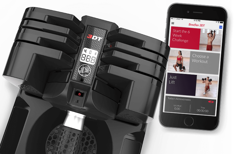 Bowflex SelectTech 560 dumbbels en app