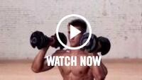 Vídeo de presión de hombro en estocada