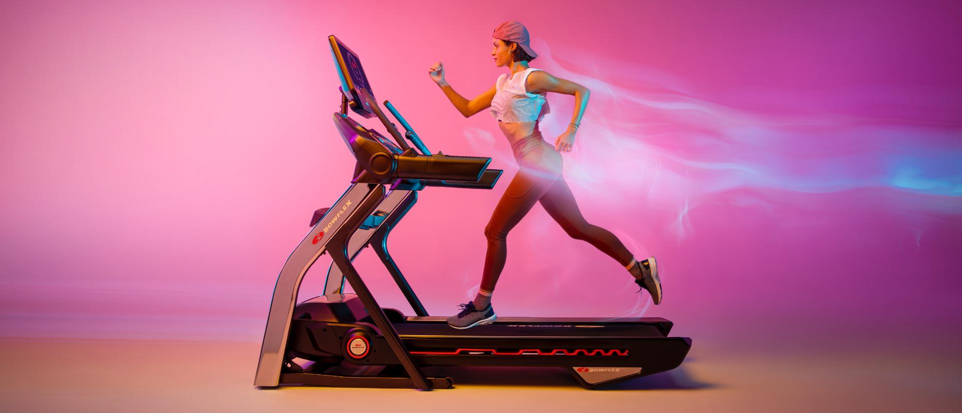 Woman running on Treadmill  56