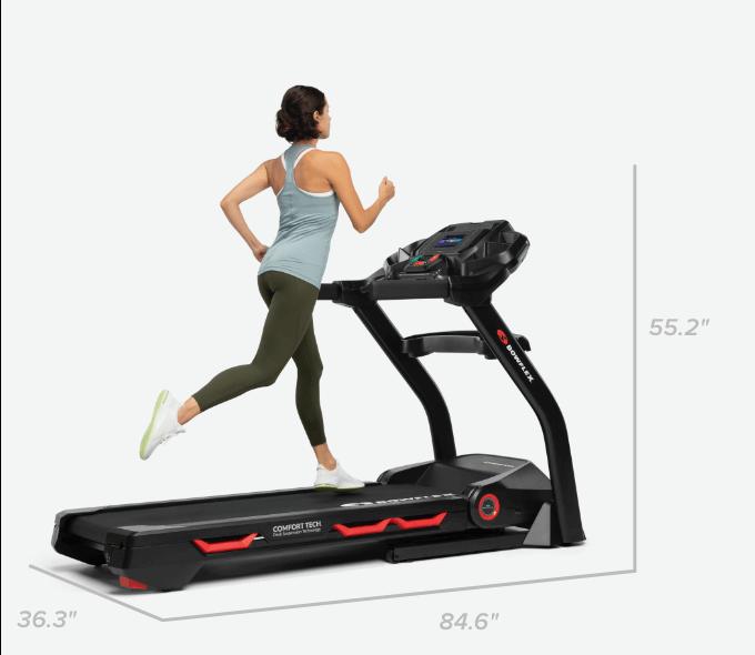 Treadmill 18 dimensions - 84.6 L x 36.3 W x 55.2 inches