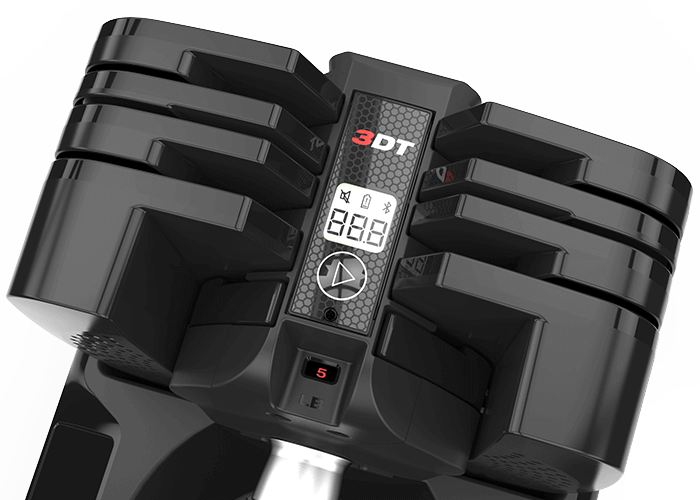 Smart dumbbells such as the SelectTech 560 come with integrated Bluetooth tracking and sync with the Bowflex 3DT App to track your weight, count your reps and sets, and provide coaching to ensure proper form every time.