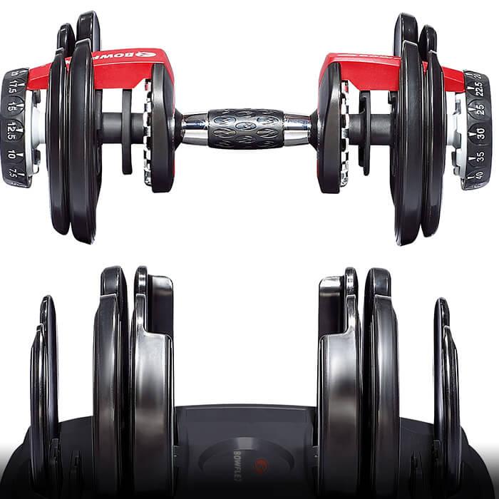 Las pesas 552 cuentan con la capacidad de seleccionar el peso que desea.