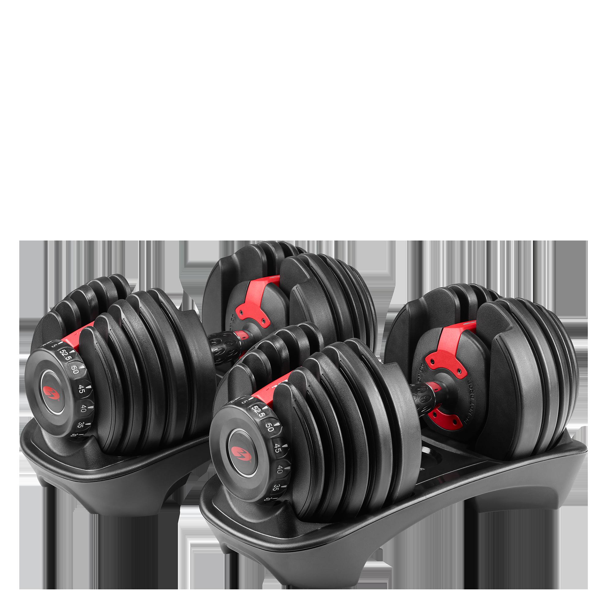 Bowflex Adjustable Dumbbells Used: Bowflex SelectTech 552i Dumbbells