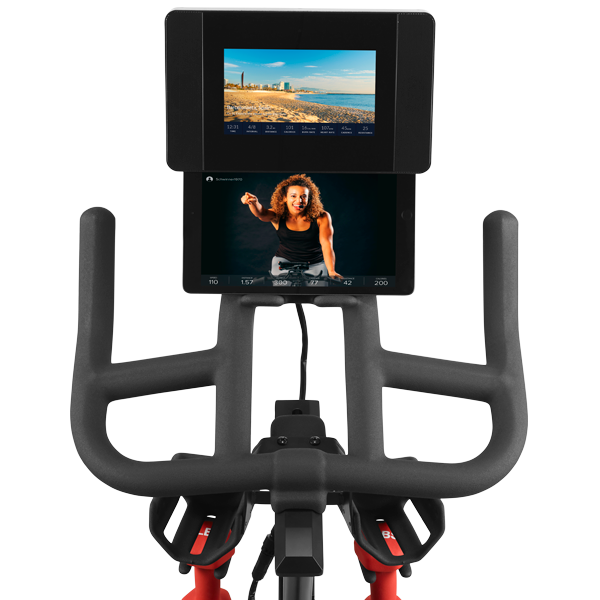 C7 bike console shown with tablet